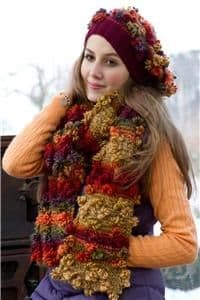 001  - GRUNDL FLOWER COLOR - COLOUR  CHUNKY KNITTING YARN - FREE HAT & SCARF PATTERN